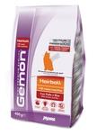 MONGE Gemon Cat Hairball корм для выведение шерсти для взрослых кошек с курицей и рисом 400 г