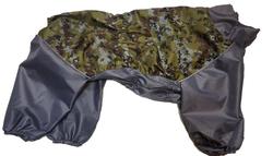 LifeDog Дождевик для больших пород собак, пиксели/серый, размер 6XL, спина 66см