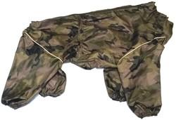 LifeDog Дождевик для больших пород собак, камуфляж, размер 4XL, спина 55см