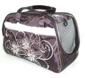 DOGMAN Сумка -переноска для собак модельная №7М с мехом, коричневая/кристаллы, 40х19х25см