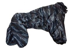 LifeDog Дождевик для больших пород собак, камуфляж серый, модель для девочек размер 6XL, спина 65см