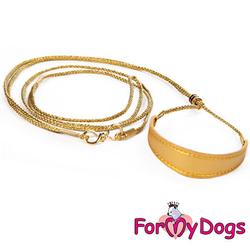 Ринговка с расширителем, цвет золотой, кожзам, длина 1,2м, толщина 3мм