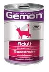 MONGE Gemon Cat консервы для кошек кусочки говядины 415 г