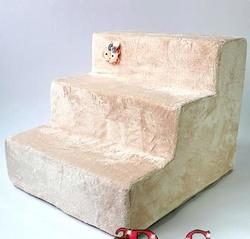 """LuxDog Лестница для собак """"Персик"""" 3 ступени"""
