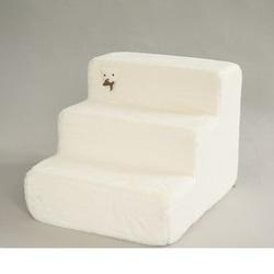 LuxDog Лестница для собак Снежок светлая, размер 2, 3, 4 ступени
