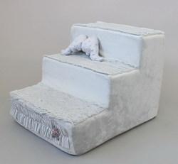 """LuxDog Лестница для маленьких собак """"Муссон""""(3 размера), серый цвет"""