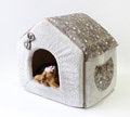 LuxDog Домик для животных City, 40х50х40см, серый