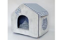 LuxDog Домик для животных Fancy, 35х45х40см, серый.