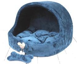 LuxDog Эстрада домик, синий, размер 45х50х35см, плюш