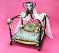LuxDog Кроватка для собак кованая Каролин, 38х38х14/45