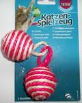 TRIXIE Игрушка для кошек 2 Мяча веревочных 2 х 4,5см