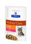 HILL'S Диета пауч для кошек K/D лечение заболеваний почек Лосось 85г х 12шт
