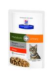 HILL'S Диета пауч для кошек Metabolic+Urinary для коррекции веса + урология 85г х 12шт