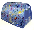 DOGMAN Сумка -переноска для собак Люкс №4 синий микс, размер 47х28х29см