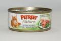 PETREET Консервы для кошек кусочки розового тунца с зеленой фасолью 70 г