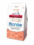 MONGE Dog Speciality Mini корм для взрослых собак мелких пород лосось с рисом, сух.