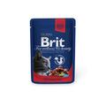 Brit Care Premium пауч для кошек Говядина и горошек 100г х 24шт