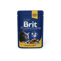Brit Care Premium пауч для кошек Курица и индейка 100г х 24шт