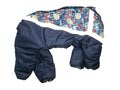 ZooPrestige Комбинезон утепленный для собак, синий/мозаика, размер 3XL, спина 42см