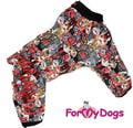 ForMyDogs Комбинезон для средних и больших собак из плотного водонепроницаемого полиэстера на флисе, модель для мальчиков, размер А2