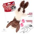 GiGwi Игрушка для собак Заяц-шкурка с пищалкой 47см