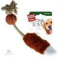 GiGwi Игрушка для собак Мячик с лисьим хвостом и пищалкой