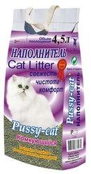 Pussy-cat Наполнитель для кошачьего туалета 4,5л комкующийся 3 шт.