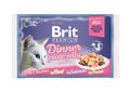 Brit Care Набор паучей Премиум для кошек кусочки в желе 4*85г