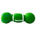 """MAJOR Игрушка для собак """"Гантель зеленая"""" с пищалкой латекс 13х4.5х4.5 см"""