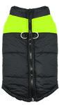 Куртка для крупных собак, черно/желтый неон, размер 5XL