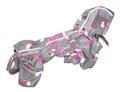 ZooPrestige Дождевик для собак Дутик, серый/клубника, размер XL, спина 36-40см