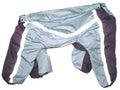 ZooPrestige Дождевик для крупных собак, баклажан/мозаика, размер 7XL, спина 65см