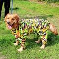 Дождевик для крупных пород собак, камуфляж, размер 7XL макси, спина 80см