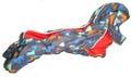 ZooPrestige Комбинезон зимний для таксы, на флисе, серо/оранжевый, размер ТМ1