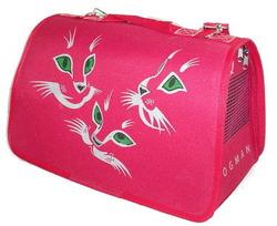 DOGMAN Сумка -переноска для маленьких животных Лира №2 Кошки, красная, 39*25*26см