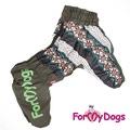 ForMyDogs Теплый комбинезон для крупных собак, цвет хаки, размер C2, модель для мальчиков