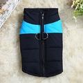 ALI Куртка для средних собак, черно/голубая, размер 3XL, длина спины 50см