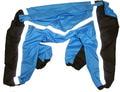 ZooPrestige Дождевик для крупных собак, черный/голубой, размер 7XL, спина 65см