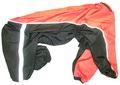 ZooPrestige Дождевик для крупных пород собак, черный/оранжевый, размер 8XL, спина 75см