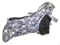 ZooPrestige Комбинезон зимний для французского бульдога, на флисе, черно/серый, размер ФР2, длина спины 44см
