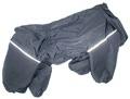 ZooTrend Дождевик для больших пород собак черный, размер 4XL, спина 55см