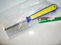 Триол Расческа с редким зубом, 195х30х22см, сине-зеленая ручка