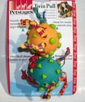 Petstages Игрушка для собак Два мяча с текстильными ленточками d 5см , длина игрушки 15см