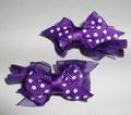 """ForMyDogs Зажим для собак """"Бантик"""" фиолетовый в горошек , 3,0см."""