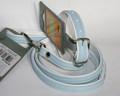 Hunter  Ошейник с поводком цвет голубой/белый Modern Art, размер ошейника 27/11(20-23,5см), размер поводка 8/110см, кожзам
