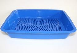 DOGMAN Туалет с сеткой для собак и кошек малый 35,0*25,0*6,0см, цвет в ассортименте