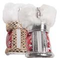 I's Pet Ботиночки для собак зимние, цвет красный/серебро, размер №3