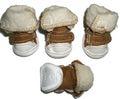 I's Pet Ботиночки для собак зимние меховые, цвет коричневый, размер №1, №4