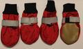 4 My Pets Ботиночки-носочки для средних и крупных пород собак, цвет красный со светоотражающей полосой, размер XS