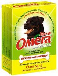 Омега Neo Лакомство для собак Протеин/L-карнитин 90табх5шт